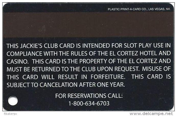 El Cortez Casino Las Vegas Slot Card (Printed) - Casino Cards