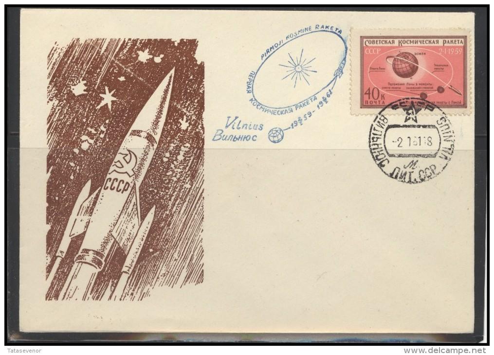 RUSSIA USSR Private Envelope LITHUANIA VILNIUS VNO-klub-067 Space Exploration - 1923-1991 USSR