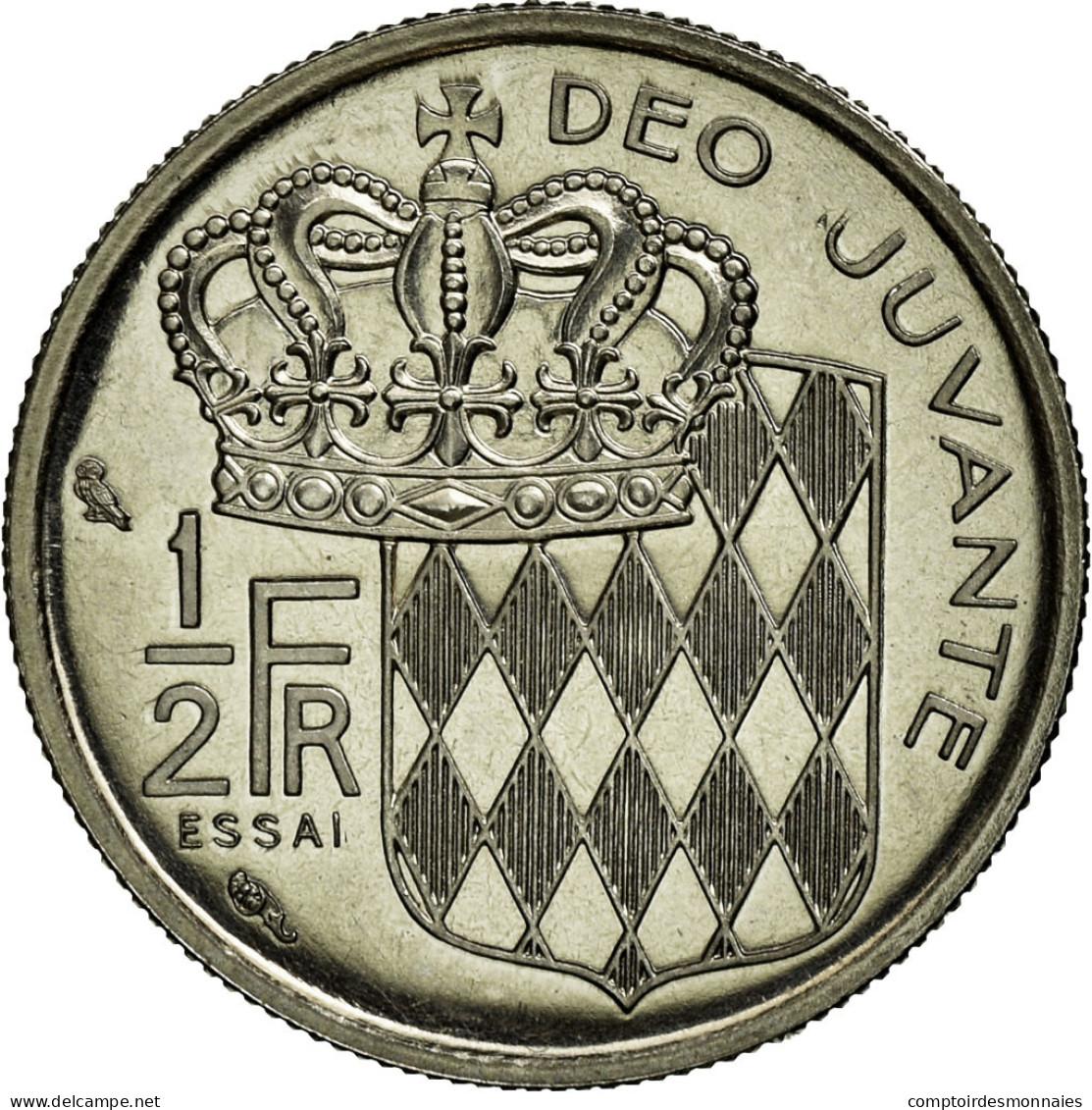 Monnaie, Monaco, 1/2 Franc, 1965, SUP+, Nickel, Gadoury:149 - 1960-2001 Nouveaux Francs