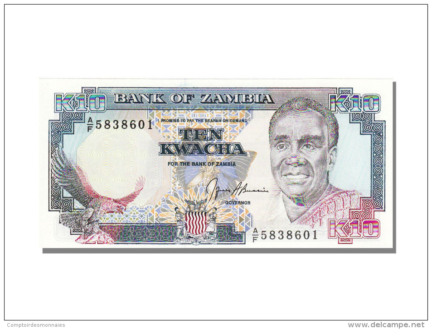 Zambie, 10 Kwacha K Kaunda - Zambie