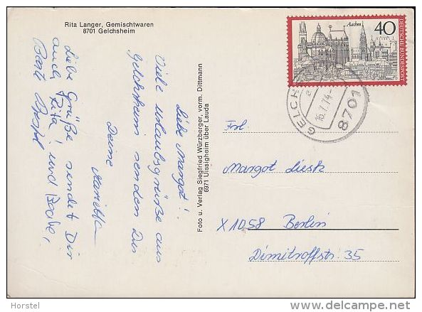 D-97255 Gelchsheim - Rita Langer Gemischtwaren - Nice Stamp - Wuerzburg
