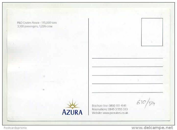AZURRA - P & O Cruises   ( 2 Scans ) - Dampfer