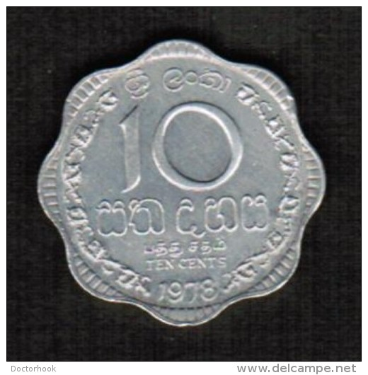 SRI LANKA  10 CENTS 1978 (KM # 140a) - Sri Lanka