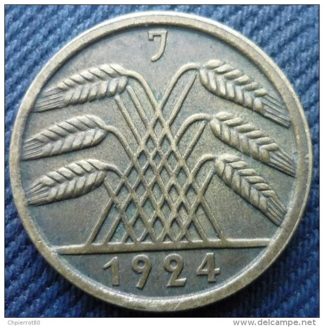 ALLEMAGNE.WEIMAR REPUBLIC.DEUTSCHES REICH.50 RENTENPFENNIG 1924 J - [ 3] 1918-1933 : Weimar Republic