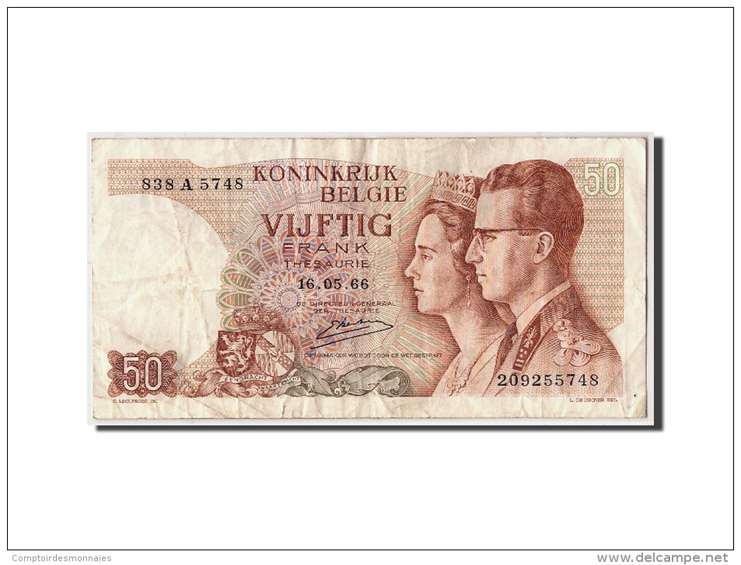 Belgique, 50 Francs, 1966, KM:139, 1966-05-16, TB - 50 Francs