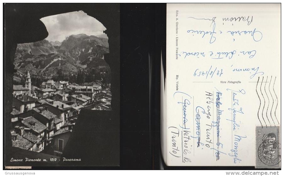 3882) PROVINCIA CUNEO LIMONE PIEMONTE PANORAMA VIAGGIATA 1959 - Cuneo