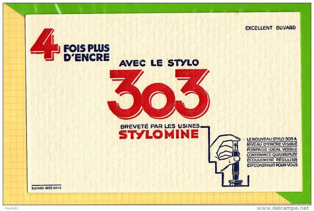 BUVARD & Blotting Paper : 4 Fois Plus D'encre Avec Le Stylo 303 Stylomine - Papeterie