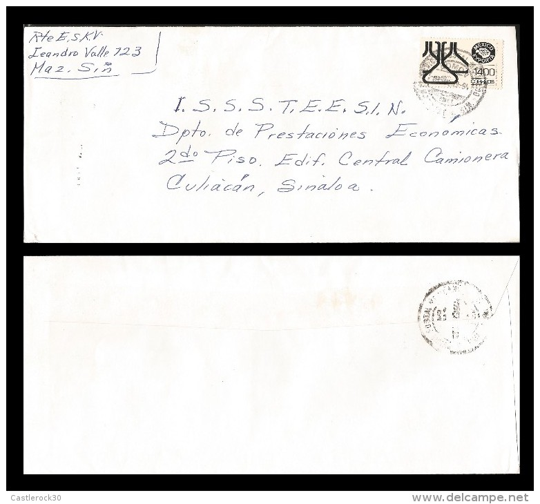 E)1994 MEXICO, MEXICO XPORTS,  CHEMICAL PRODUCTS, CIRCULATED COVER FROM MAZATLAN  TO CULIACAN-SINALOA, INTERNAL USAGE, - Mexico