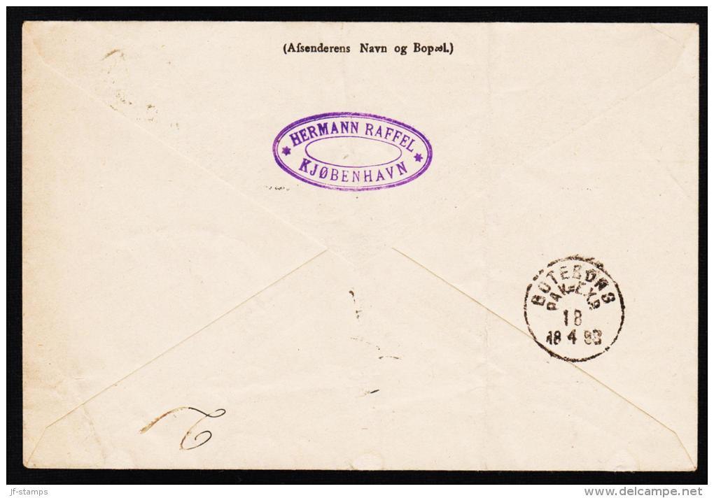 1884. Coat-of Arms. Large Corner Figures. 20 Øre Blue. Perf. 14x13½ 4 Ex. + 10 øre Adre... (Michel: 36YA) - JF192718 - Briefe U. Dokumente
