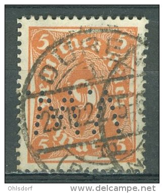 DEUTSCHES REICH 1922-23: Mi 227 / YT 208, PERFIN, O - KOSTENLOSER VERSAND AB 10 EURO - Germania