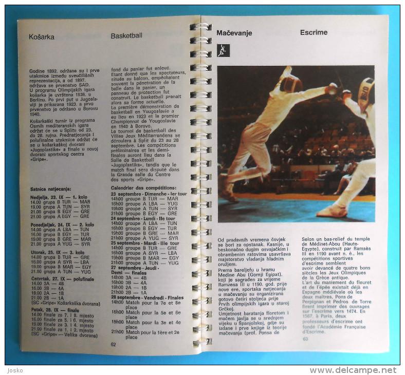 MEDITERRANEAN GAMES 1979. Programme & Guide * Jeux Mediterraneens Giochi Del Mediterraneo Juegos Mediterráneos Programma - Libros