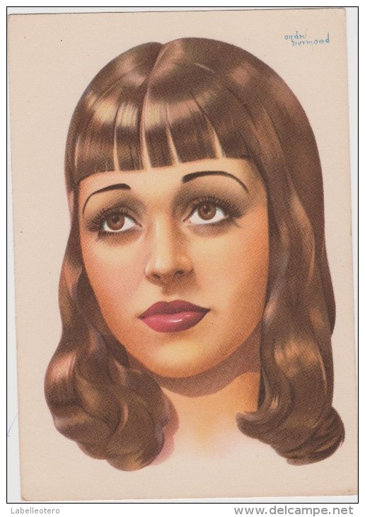 <b>André BERMOND</b> visage féminin [3 EUR] - 699_001
