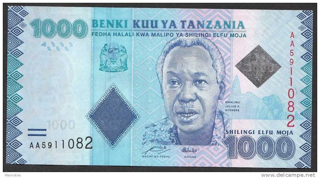 TANZANIA : Banconota 1000 Scellin I- 2010  -  FDS - Tanzanie