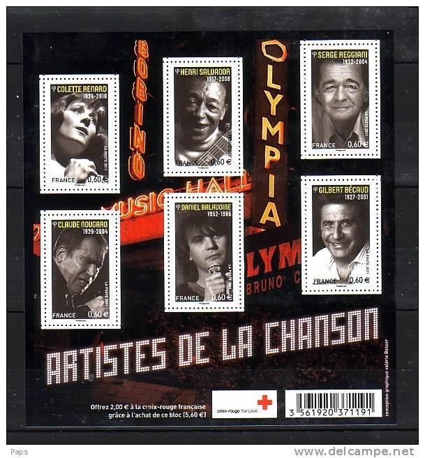 2011-N°F4605**(4605/4610) ARTISTES DE LA CHANSON - France