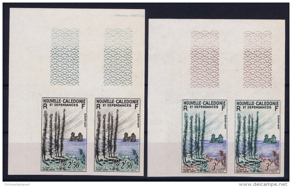 NOUVELLE-CALEDONIE : 1955  Yv 284 - 285  MNH/**/postfrisch/neuf Non Dentelé - Ongetande, Proeven & Plaatfouten
