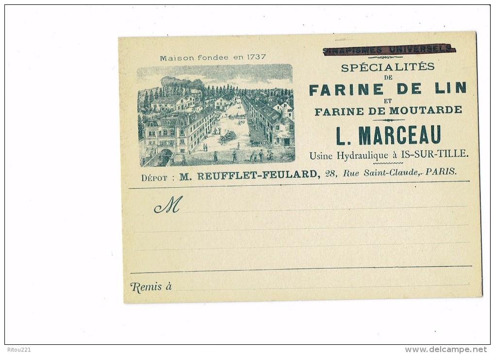 Cpa - 21 - Usine Hydraulique Is-sur-Tille (Côte D'or) - L. Marceau - Farine Lin Moutarde - Dépot REUFFLET FEULARD Paris - Is Sur Tille