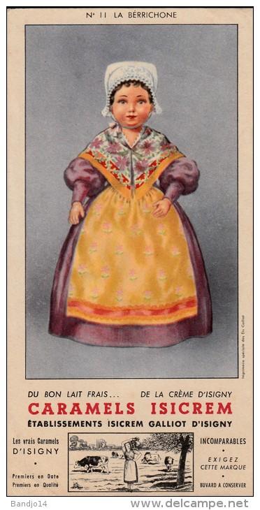 Isicrem  - Galliot - Isigny - Caramels Isicrem -  La Berrichone  - Format 10 X 19,5 Cm - Leche