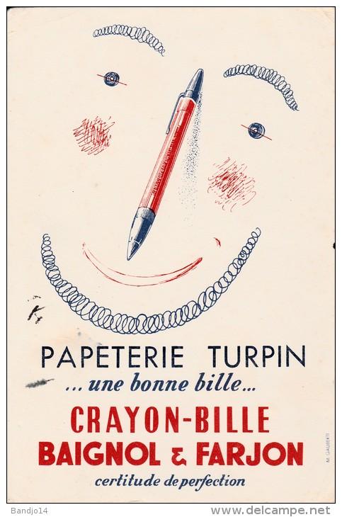 Papeterie Turpin  (Baignol Et Farjon )-  Format 14 X   21 Cm - Papeterie
