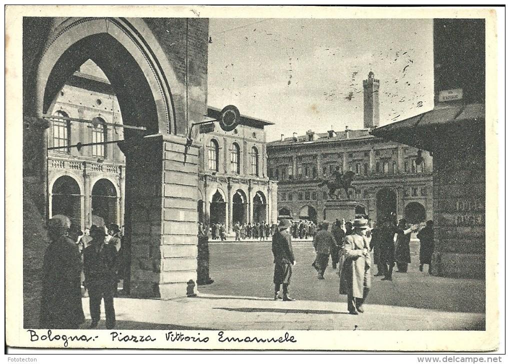 Bologna - Piazza Vittorio Emanuele - 1937 - Animata - Bologna