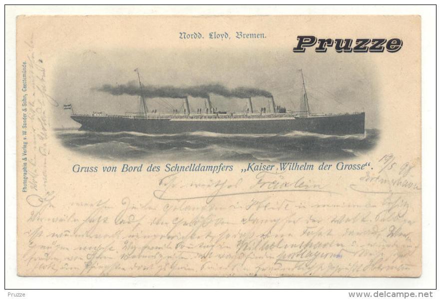 "Dampfer ""Kaiser Wilhelm Der Grosse"" 1898 - Dampfer"