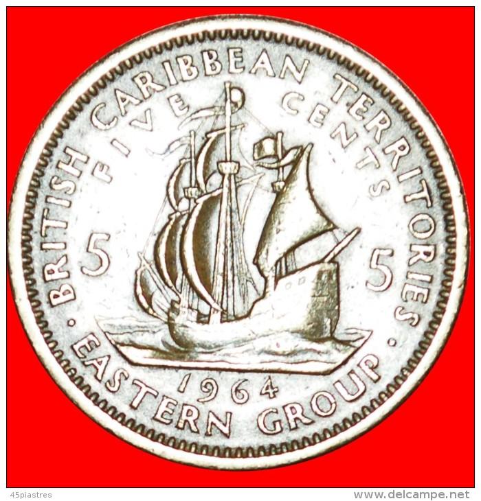 ★SHIP: BRITISH CARIBBEAN TERRITORIES ★ 5 CENTS 1964! LOW START★NO RESERVE!!! - Oost-Caribische Staten