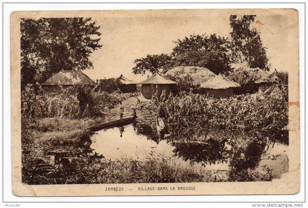 Zambie--ZAMBEZE--Village Dans La Brousse (petite Animation) éd Sté Missions évangélistes éd Braun - Zambia