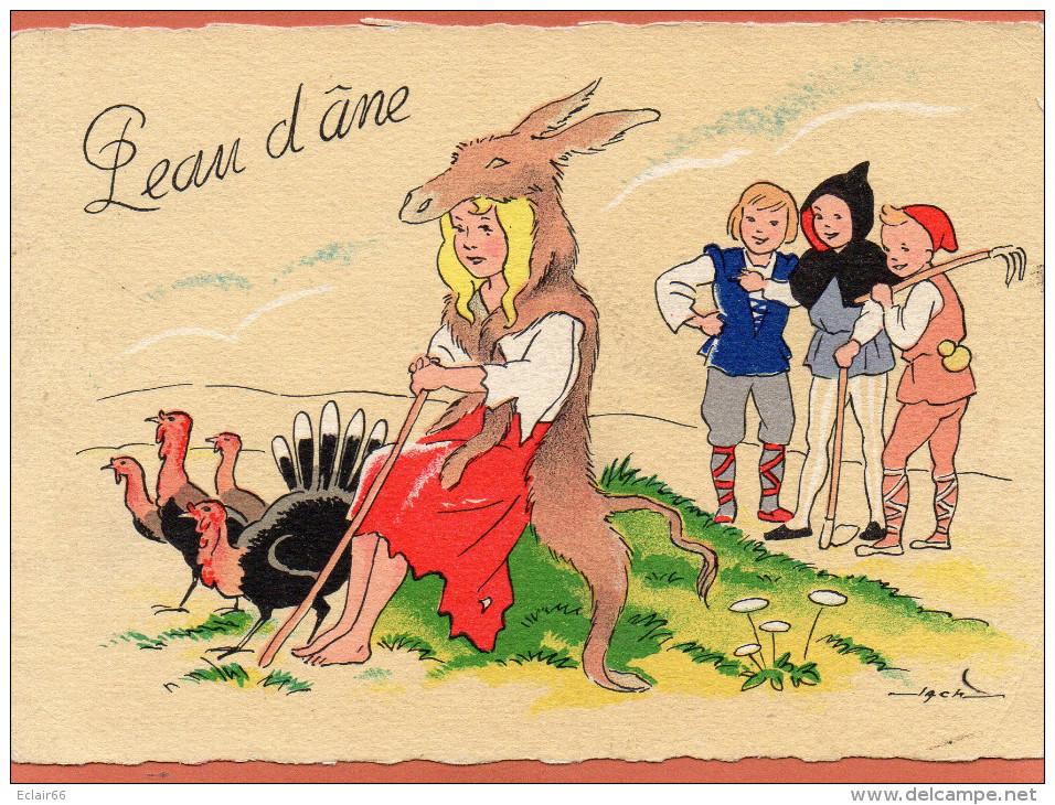 PEAU D'ANE  EDIT M BARRE & J . DAYEZ .CPM Année  1950 Signé JACK Voir Recto Verso  N°1489 C - Fairy Tales, Popular Stories & Legends