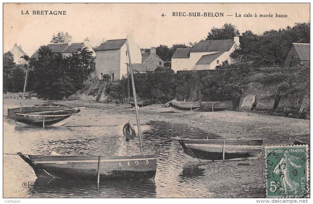 29 - Riec-Sur-Belon - La Cale à Marée Basse - Autres Communes