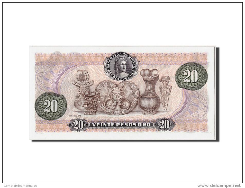 Colombie, 20 Pesos Oro, 1983, KM:409d, 1983-01-01, NEUF - Colombie