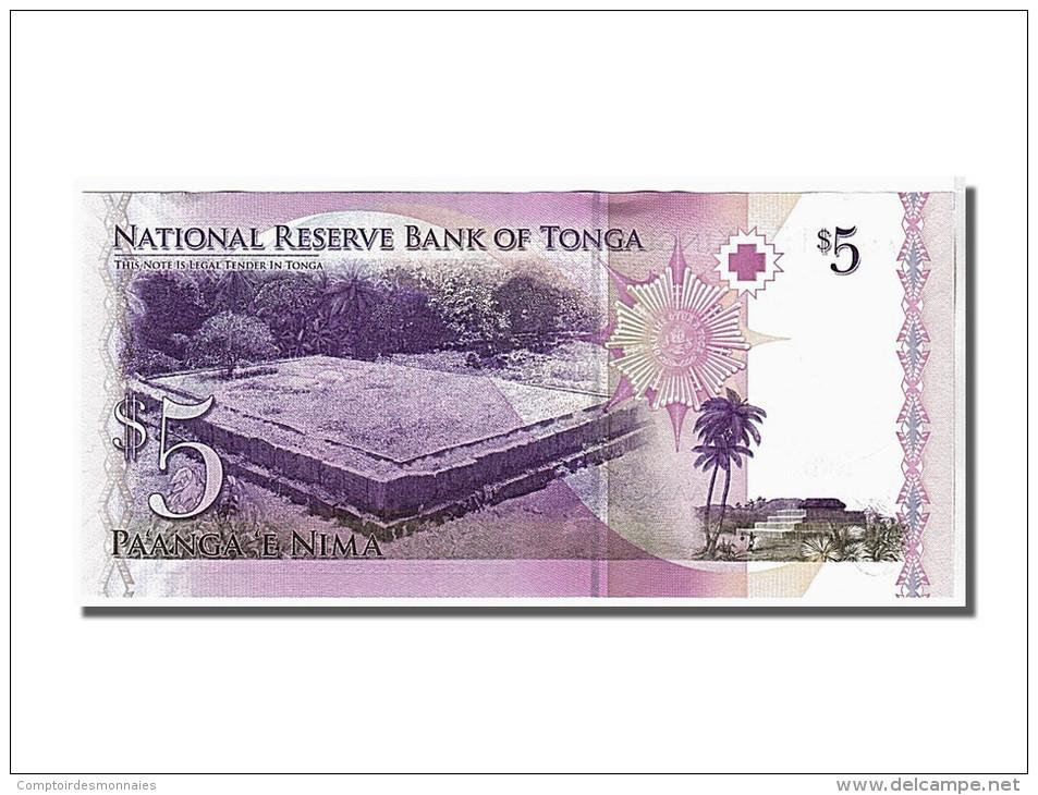 Tonga, 5 Pa'anga Type Roi Tupou V - Tonga