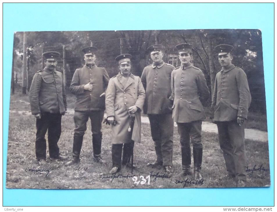 Soldaat - Soldier / Soldat () Identify ( Zie Namen Op Foto ) Anno 1916 MINDEN ( Paul Beckman Zie Foto´s Voor Details ) ! - Guerra, Militari