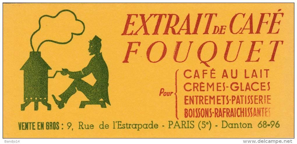 Café Fouquet  - Extrait De Café - Format  8,5 X 18,3 Cm - Café & Té