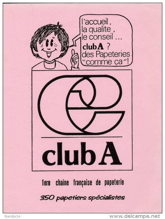 "Papeterie "" Club A "" - Format 16 X 21 Cm - Papeterie"