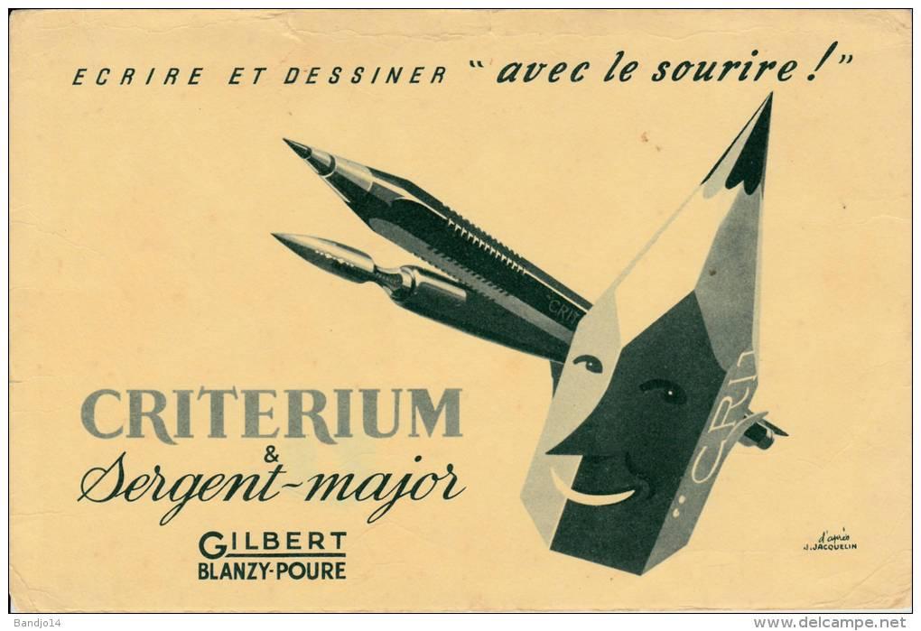 Gilbert  Criterium Et Sergent Major - Illustration D'après Jacquelin - Format 14 X 21 Cm - Stationeries (flat Articles)
