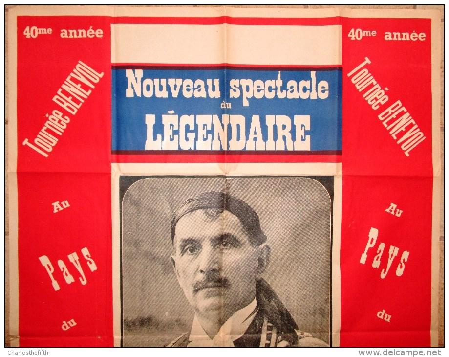 """GRANDE AFFICHE RARE DE 1920 """" BENEVOL OU LE COUPEUR DE TÊTES """" MAGIE - RARE MAGIC POSTER - ILLUSIONISME - ILLUSIONIST - Affiches"""