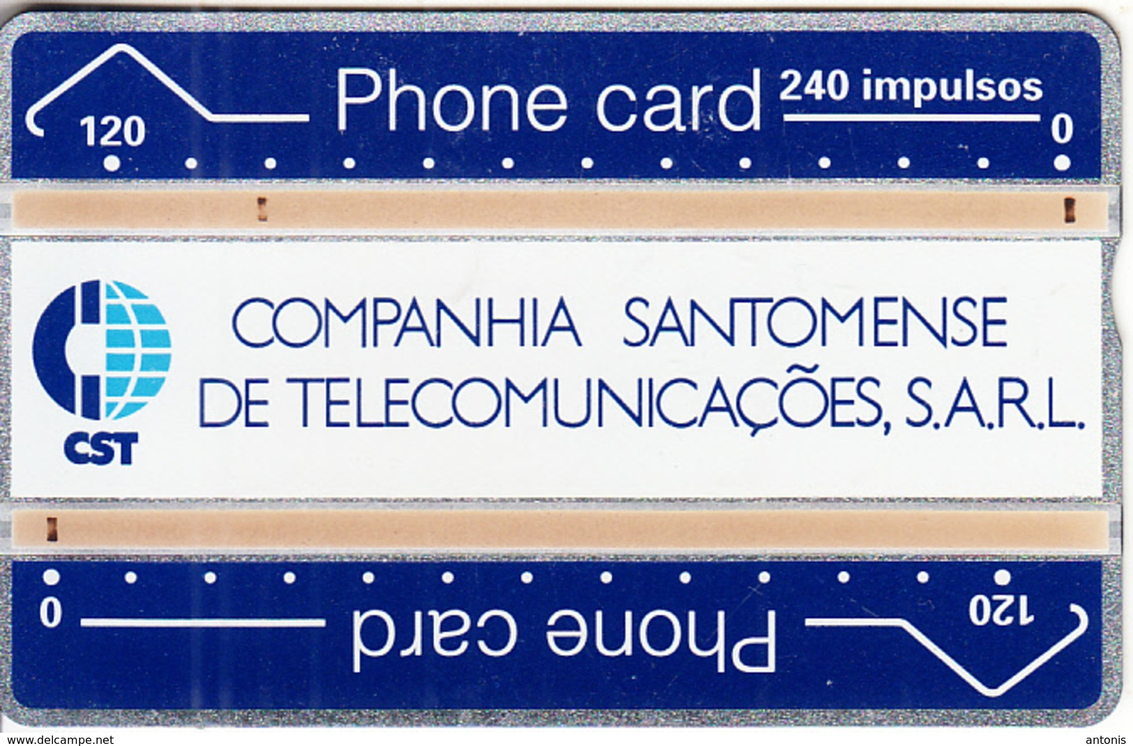 SAO TOME & PRINCIPE - CST Logo, First Issue 240 Units, Tirage 5000, CN : 112K, Used - Sao Tome And Principe