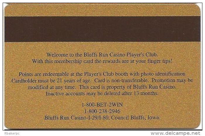 Bluff´s Run Casino Council Bluffs IA - Player´s Club Slot Card (Printed) - Casino Cards