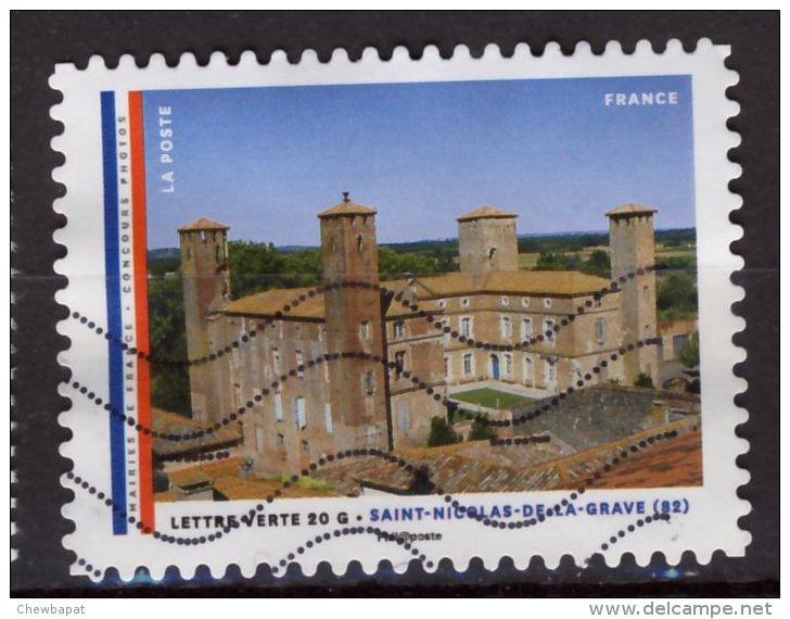 France 2015 - Y & T - Oblitéré - N° ??? Mairies De France - Timbre Du Carnet.Saint Nicolas De La Grave(82) - Oblitérés