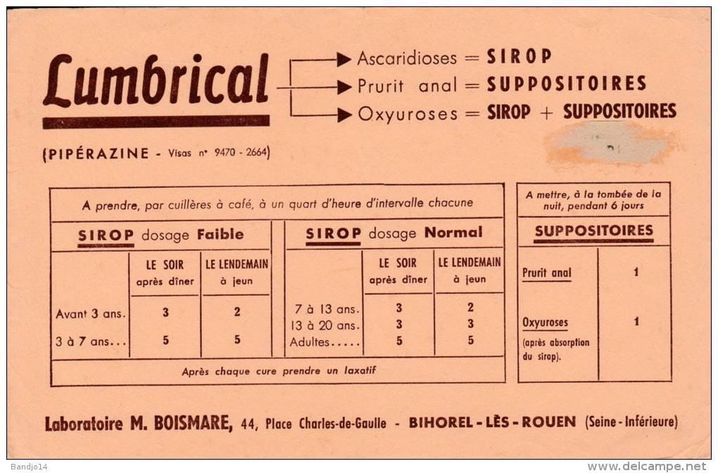 Lumbrical - Laboratoire Boismare - Bihorel Les Rouen  - Format  13,5 X 21 Cm - Produits Pharmaceutiques