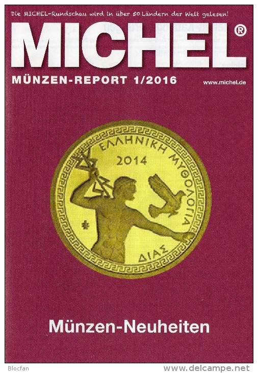 Briefmarken Rundschau MICHEL 1/2016 Neu 6€ New Stamps Of The World Catalogue/ Magacine Of Germany ISBN 978-3-95402-600-5 - German