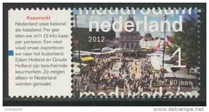 Nederland Netherlands Pays Bas 2012 Mi 2972 ** Kaasmarkt / Dutch Cheese Markets - Madurodam (1952-2012) - Miniatures - Vakantie & Toerisme