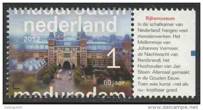 Nederland Netherlands Pays Bas 2012 Mi 2975 ** Rijksmuseum Amsterdam - Madurodam (1952-2012) - Miniatures - Monumenten