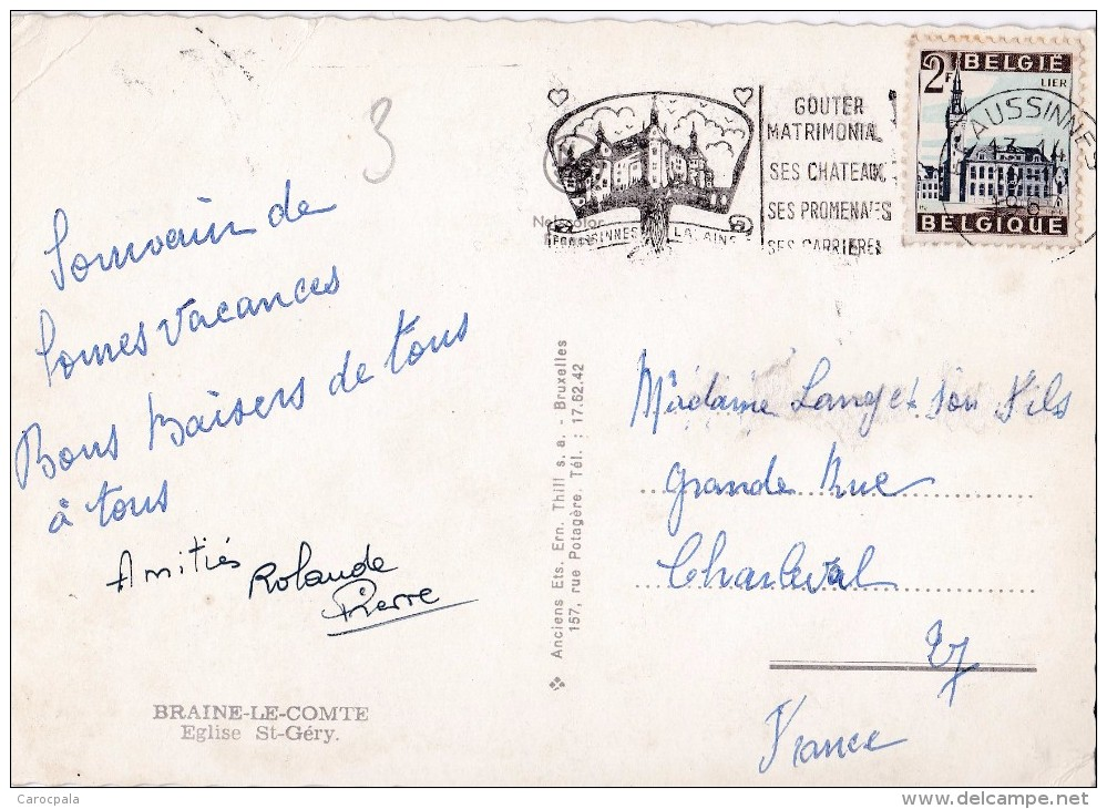 Carte 1965 BRAINE LE COMTE / EGLISE ST GERY - Braine-le-Comte