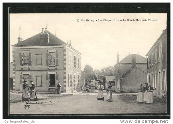 CPA La Chapelotte, La Grande Rue, Pres L´Eglise - Non Classés