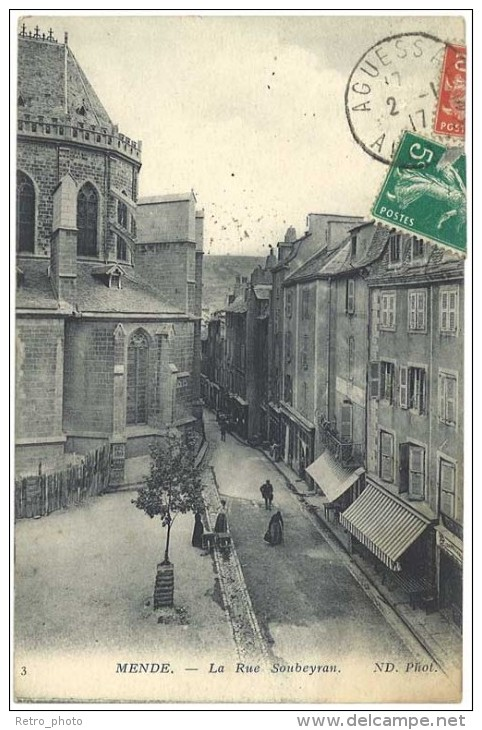 Mende - La Rue Soubeyran - Mende