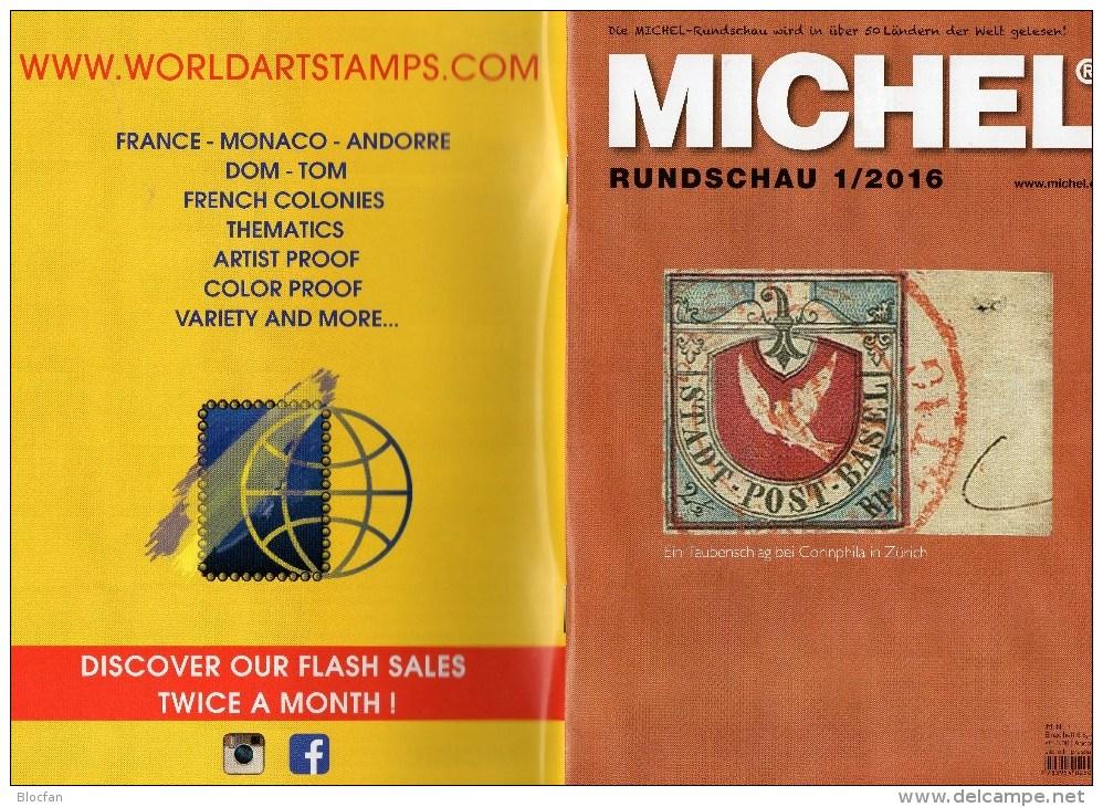 MICHEL Briefmarken Rundschau 1/2016 Neu 6€ New Stamps Of The World Catalogue/ Magacine Of Germany ISBN 978-3-95402-600-5 - Allemand