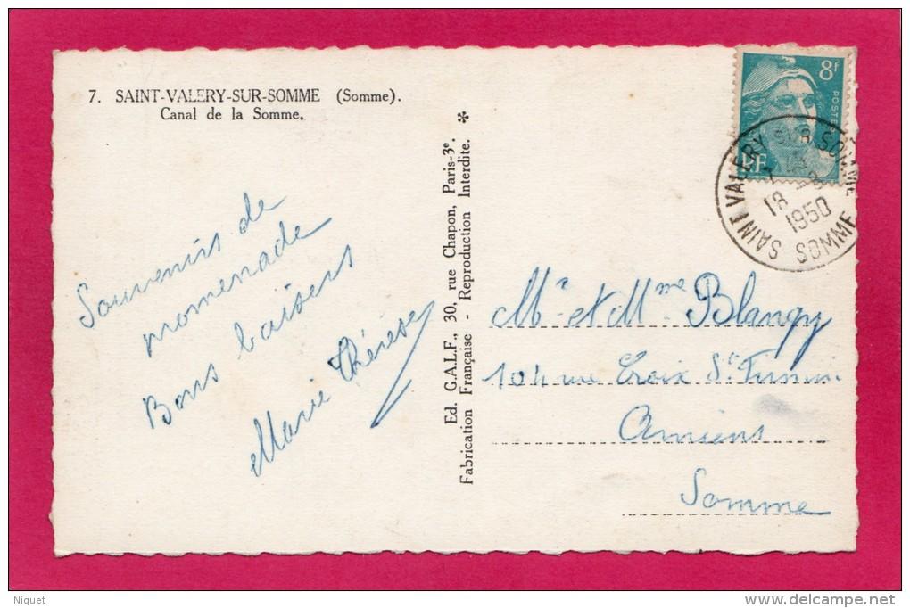 80 SOMME ST-VALERY-sur-SOMME, Canal D'Abbeville à St-Valéry, 1950, (G.A.L.F., Paris) - Saint Valery Sur Somme