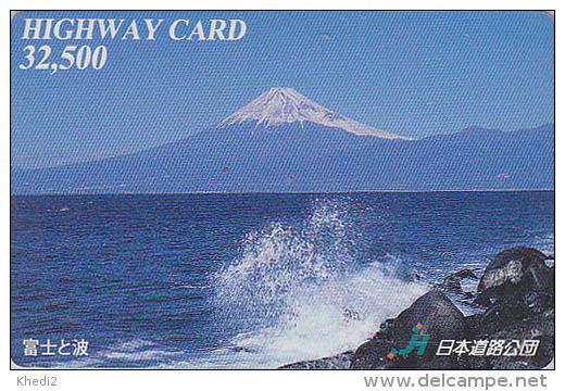 Carte Prépayée Japon - VOLCAN MONT FUJI - VULCAN Mountain Japan Prepaid Card - VULKAN Berg Karte - HW 267 - Volcanos