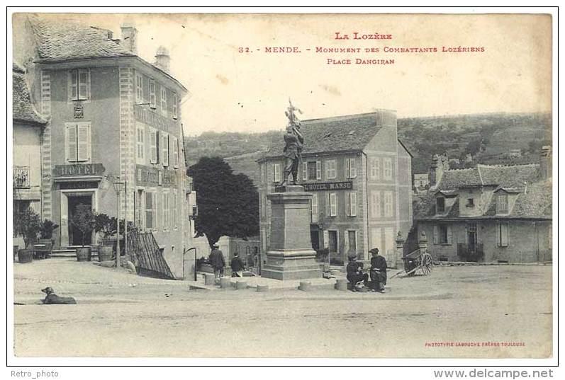 Mende - Monument Des Combattants Lozériens, Place Dangiran - Mende