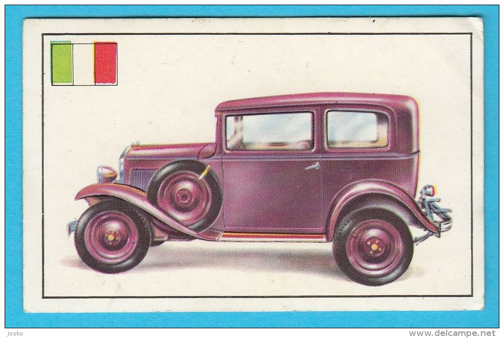 PANINI - AUTOMOBILE No. 82 FIAT Type 508 BALILLA  *  Automobile Auto Voiture Automobil Autos - Cars